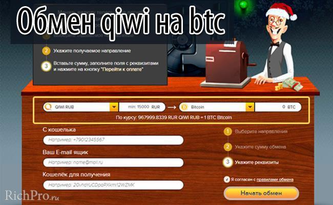 Обмен биткоинов через bitcoin обменник - как обменять на реальные деньги/рубли за 5 шагов
